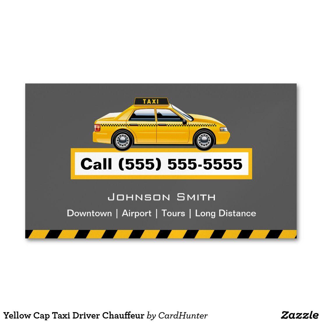 Yellow Cap Taxi Driver Chauffeur Magnetic Business Card Zazzle Com Magnetic Business Cards Taxi Driver Chauffeur