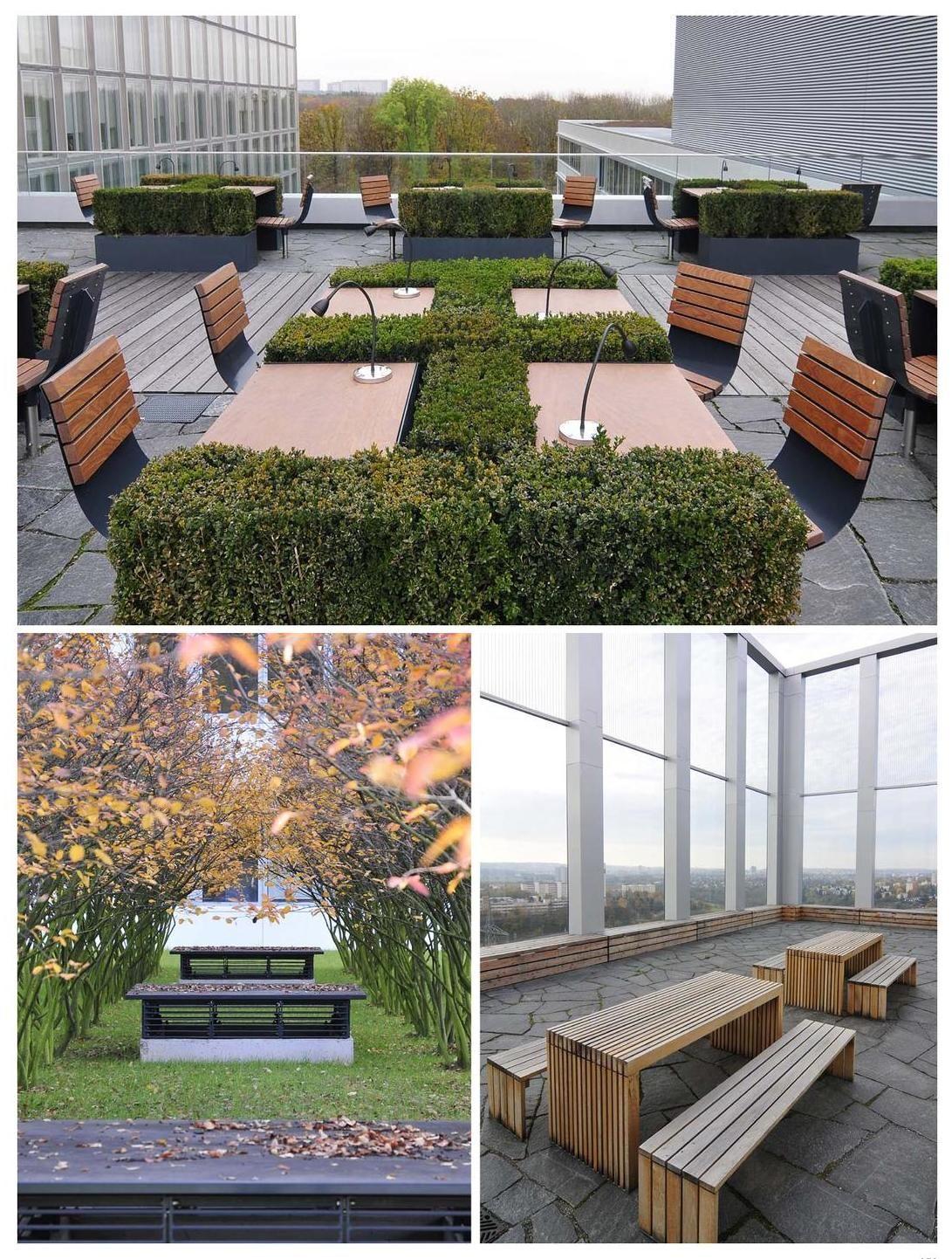 Corporate Commercial Landscape Rooftop Patio Urban Courtyards Landscape Design