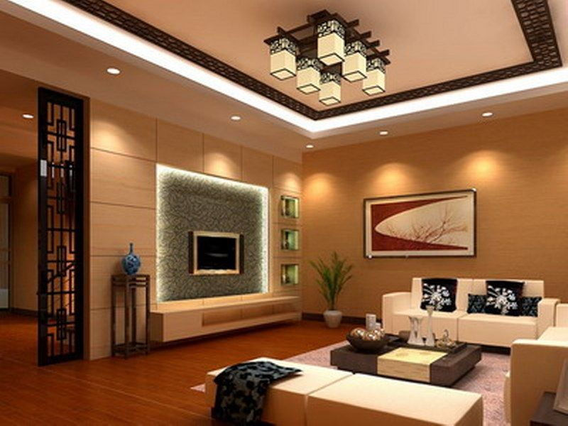interior laminate flooring square brownw ceiling chandelier downights television picture frame white fabric sofa bed designer living - Interior Design Living Room 2012