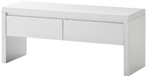Robas Lund 52131W1 Sydney Bank, hochglanz, weiß, lackiert, mit 2 Schubkästen