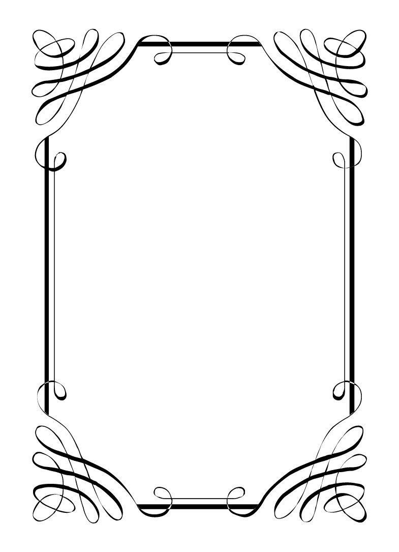Blank Invitation Templates Black And White Clip Art Vintage Clip Art Bingkai