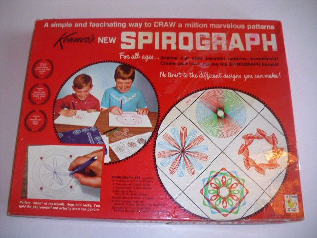 VINTAGE 1967 Kenner Spirograph 401 NEAR COMPLETE Blue Tray Instructions Kenner's #Kenner