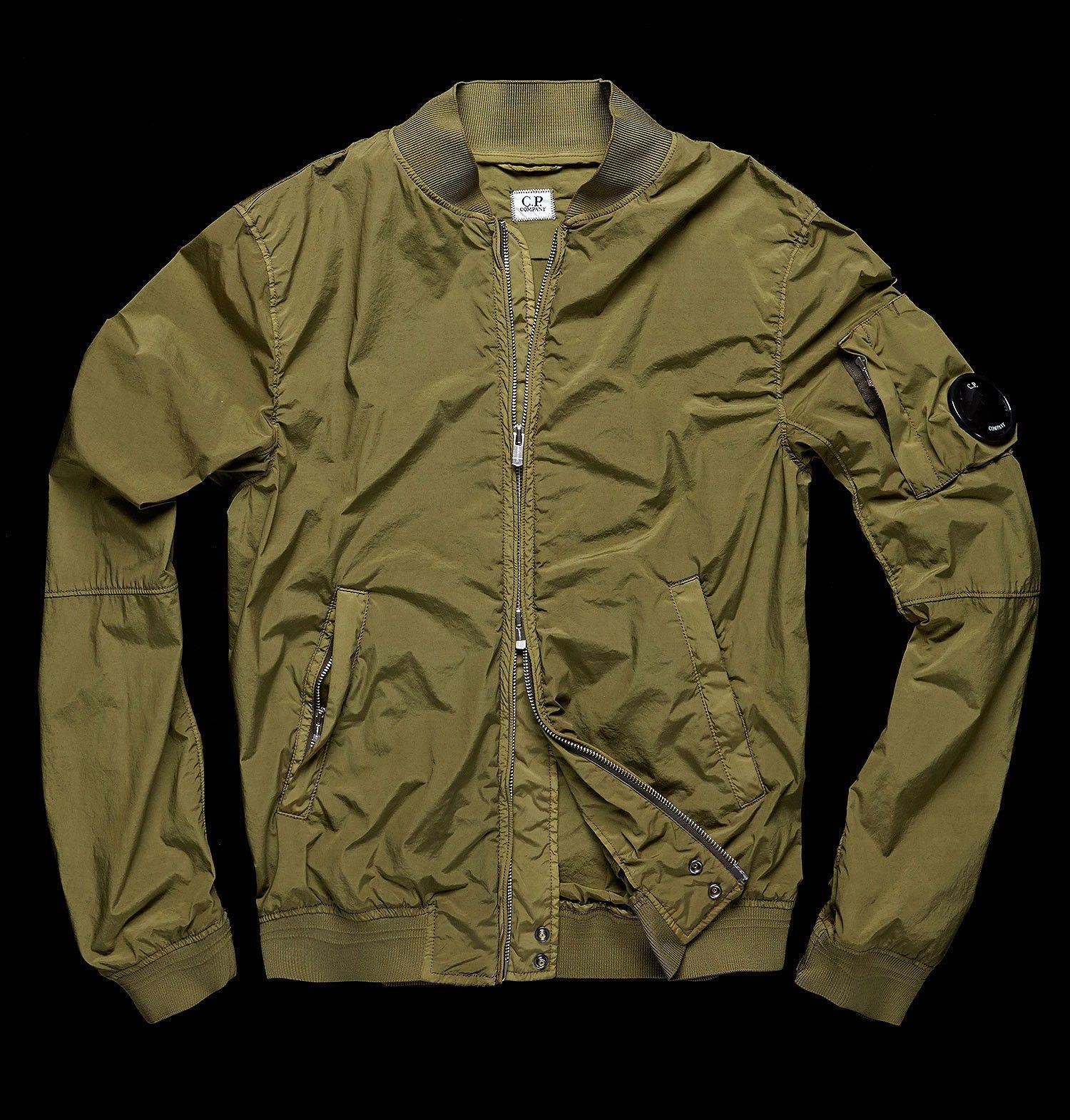 Stretch nylon/goggle pocket/side zips/zip/garment-dyed ...