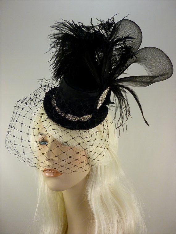 Bridal Mini Top Hat Fascinator Burlesque