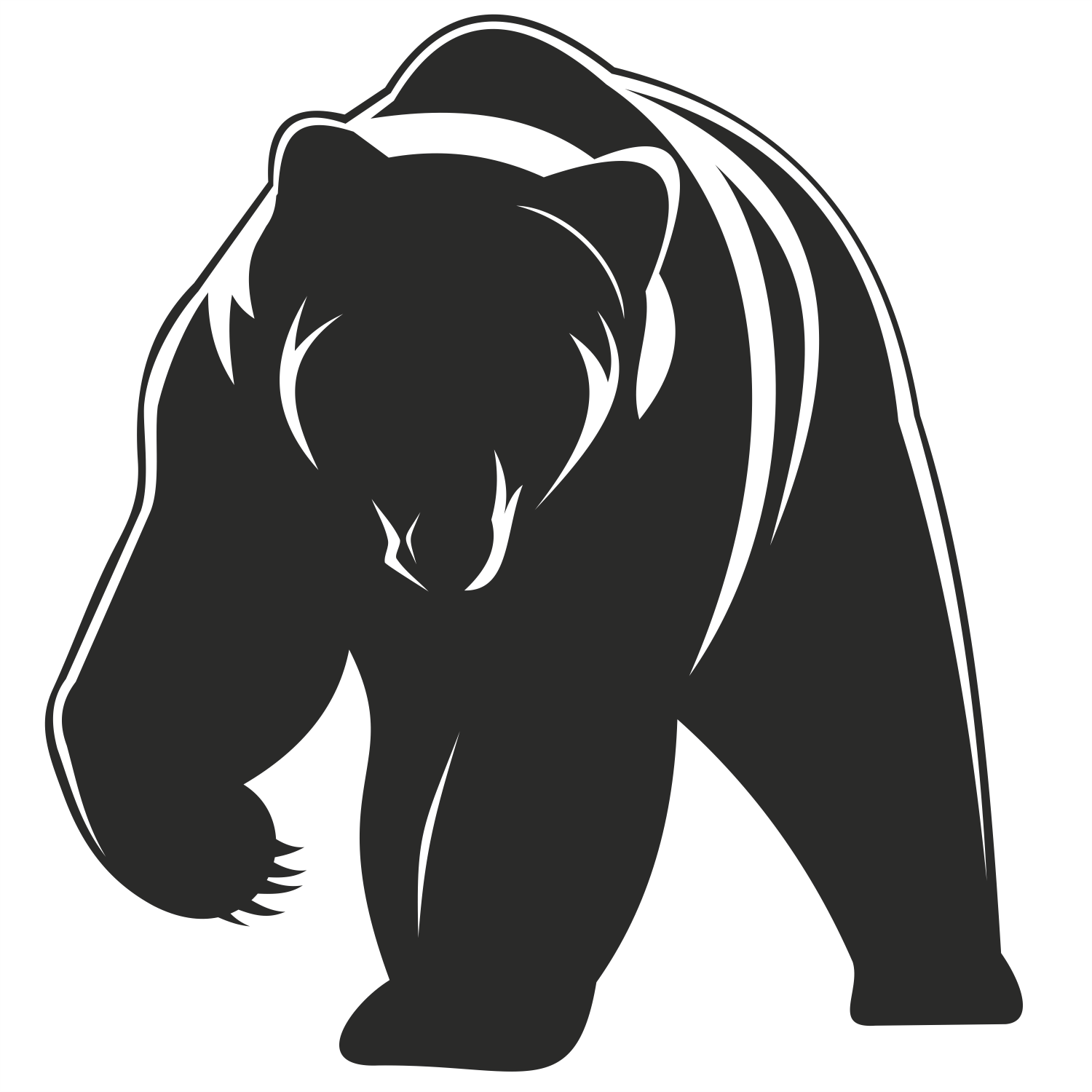 Pics For > Standing Grizzly Bear Vector … Bear decal