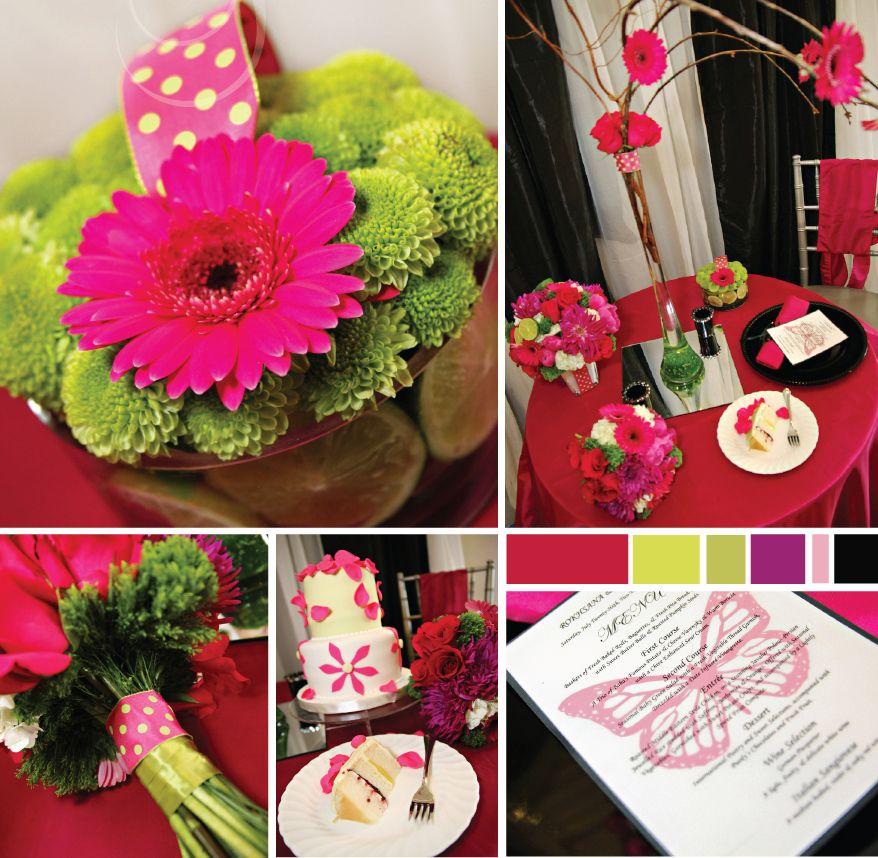 Hot Pink And Lime Green Colour Scheme