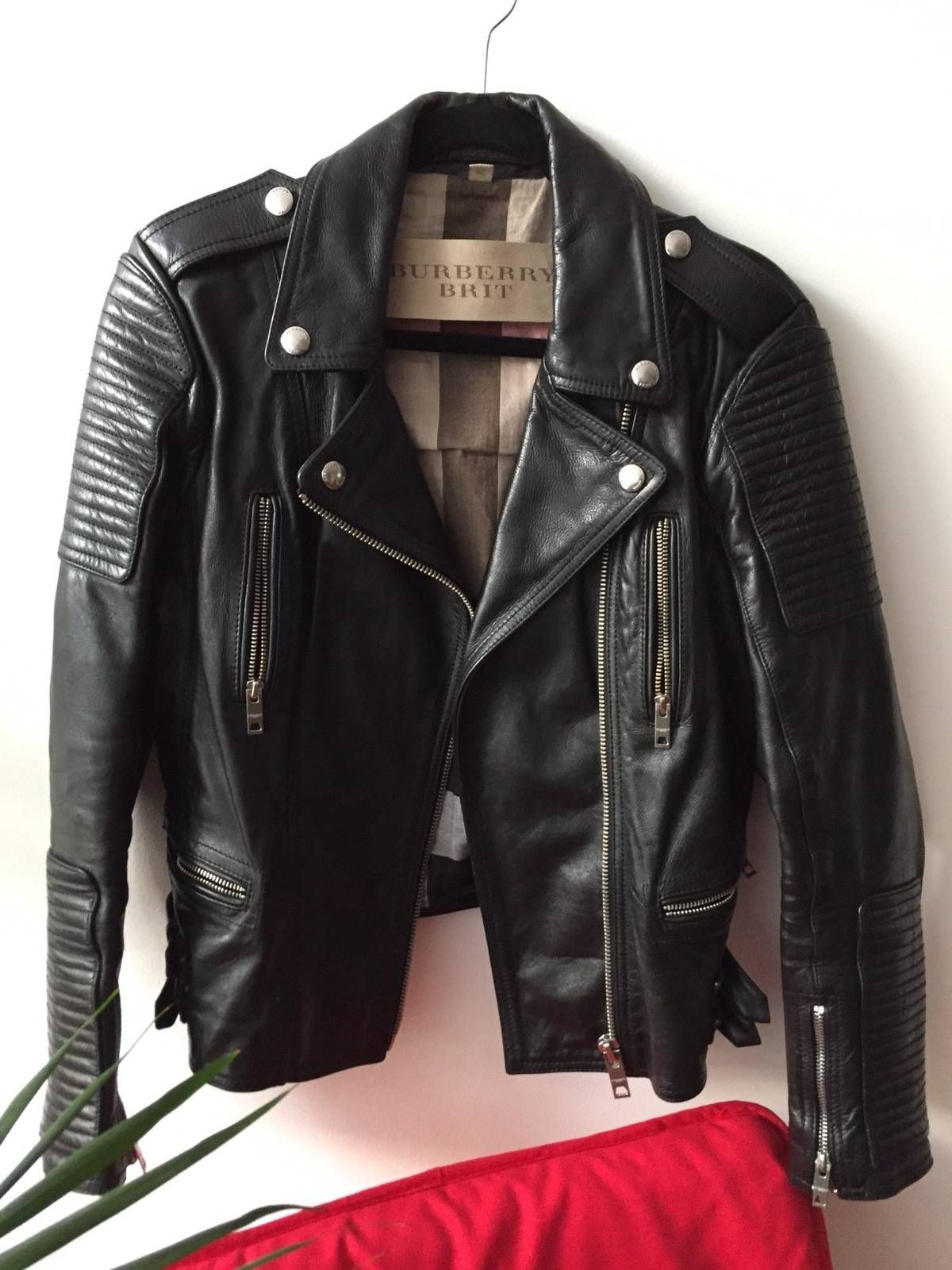 39cdca42 Buy Burberry Prorsum Motorcycle Biker Jacket, Size: S, Description:  Burberry Brit leather motorcycle jacketFits like Size 46 men's/size 44  women's.