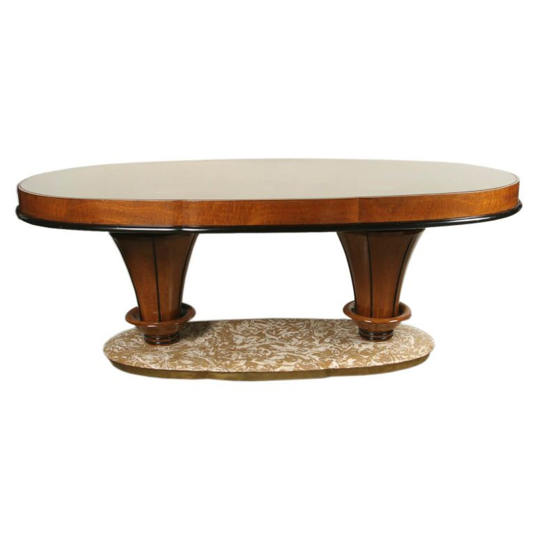 Walnut Oval Table by Vittorio Dassi Oval table, Marbles and Dining