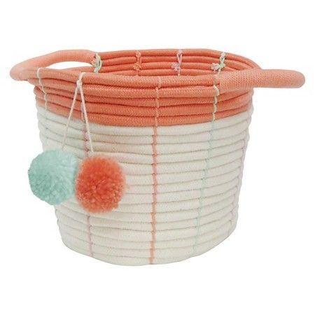 Ordinaire Small Storage Basket   Pom Pom Coral   Pillowfort™ : Target