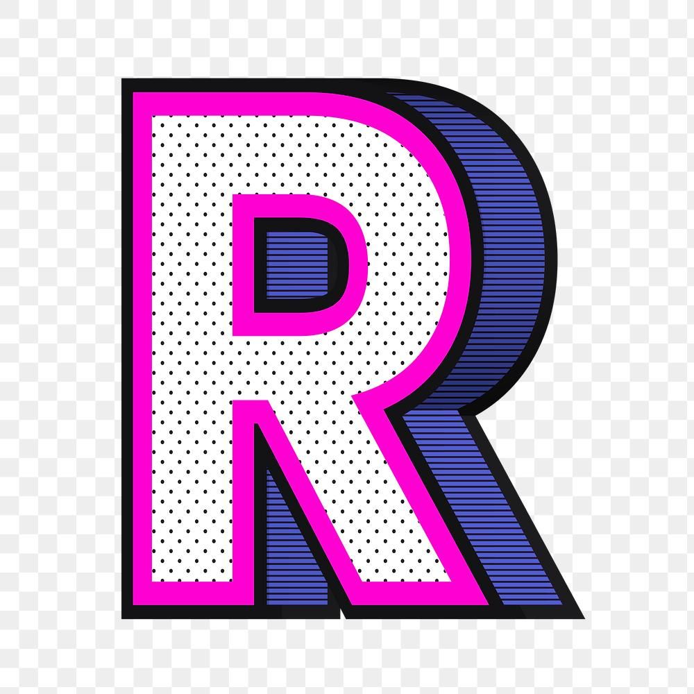 Letter R Png Isometric Halftone Effect Typography Free Image By Rawpixel Com Wan Letter R Halftone Lettering