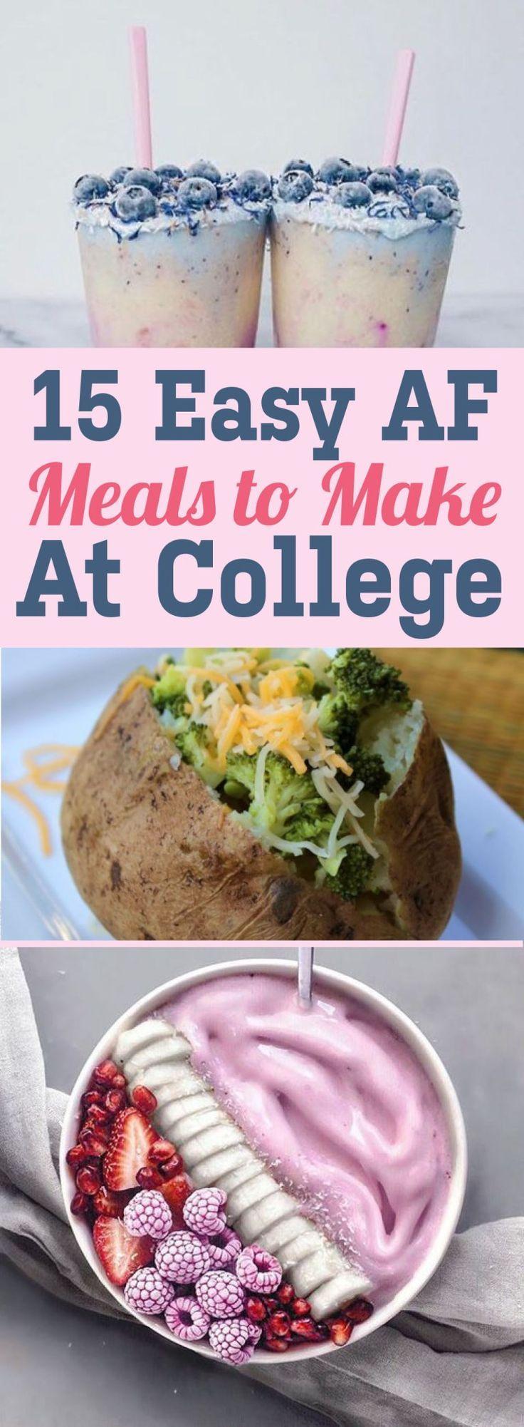 15 Easy AF Meals To Make At College images