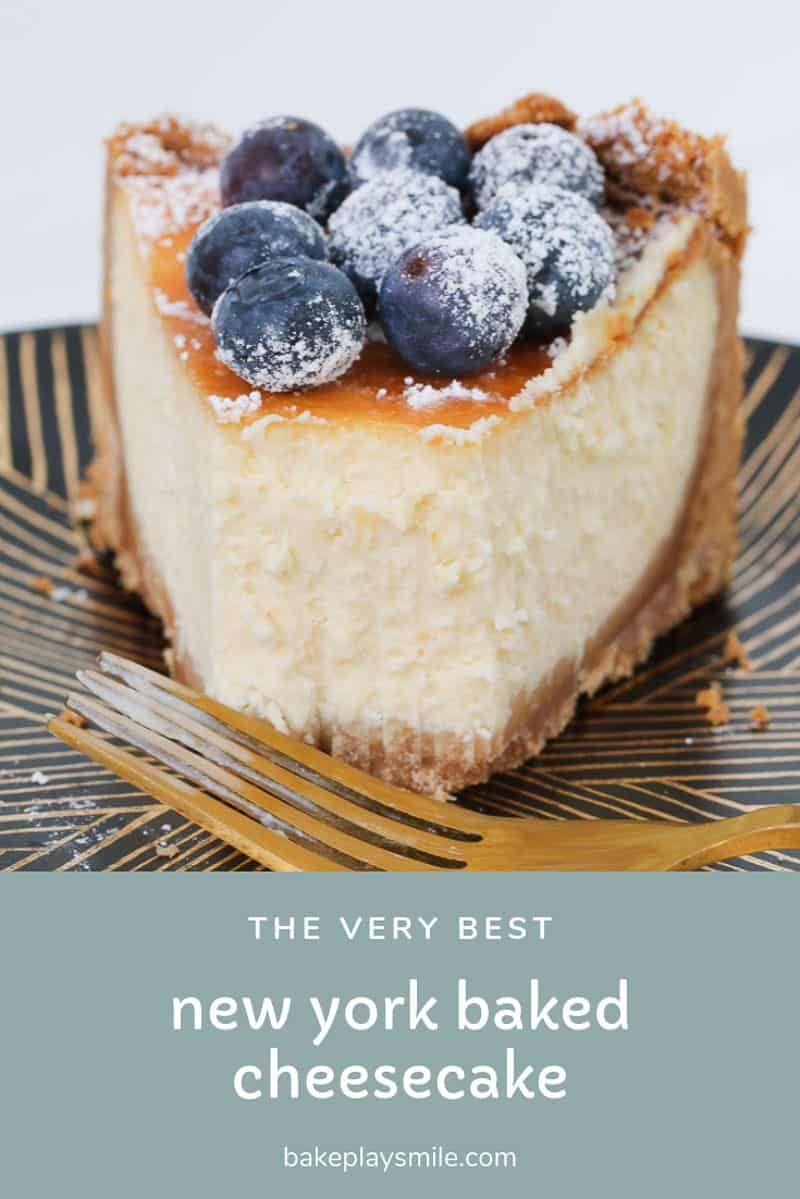 Classic New York Baked Cheesecake