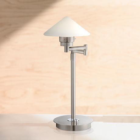 Possini Euro Kanan Satin Nickel Swing Arm Led Desk Lamp 7t486 Lamps Plus Table Lamp Lighting Desk Lamp Led Desk Lamp