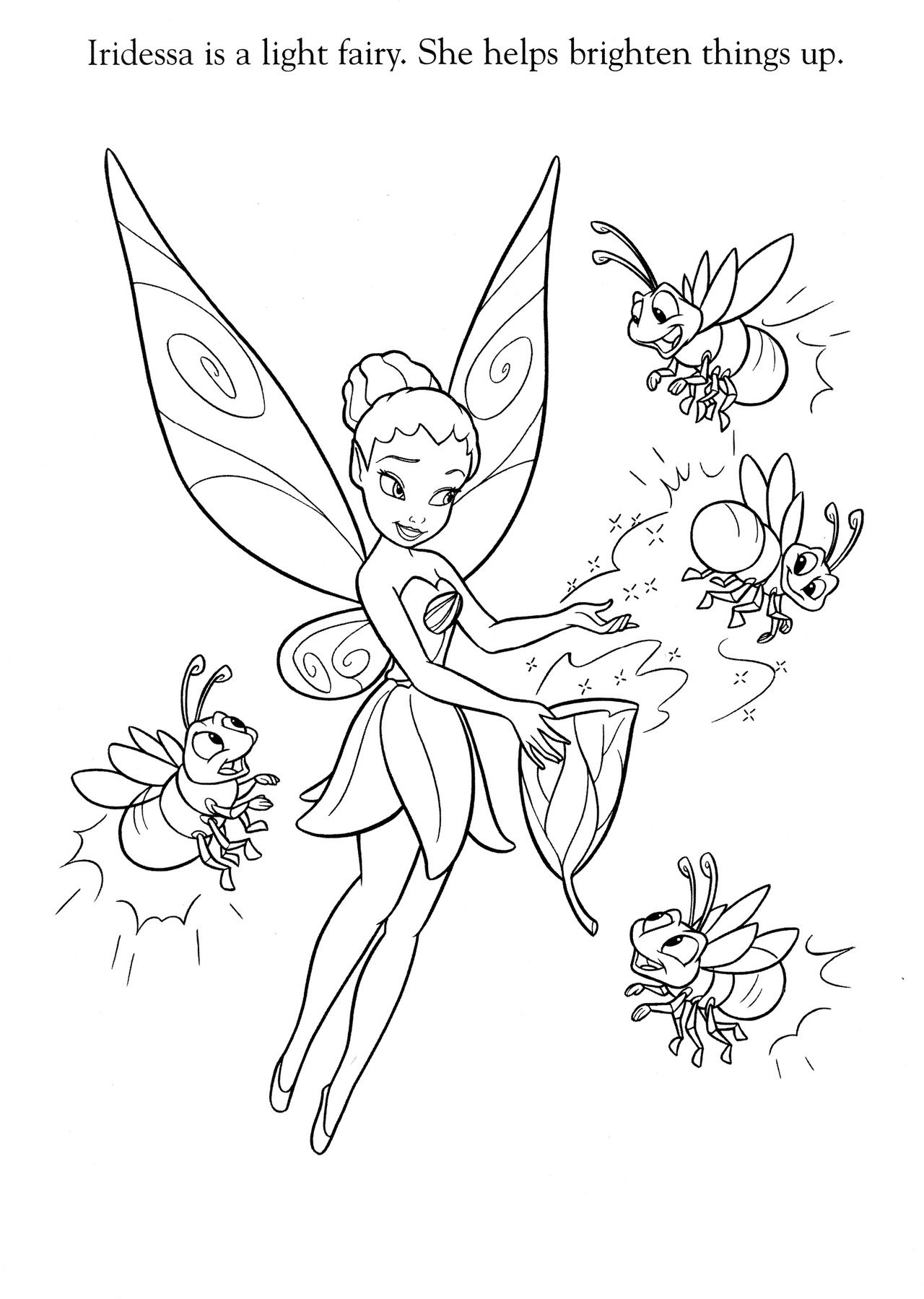 Pin By Deb Vanportfleet On Color Pages Tinkerbell Coloring Pages Fairy Coloring Pages Disney Coloring Pages [ 1799 x 1280 Pixel ]