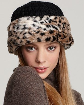 d6d63a8325a Surell Faux Fur Cuff Hat with Knit Crown - Hats