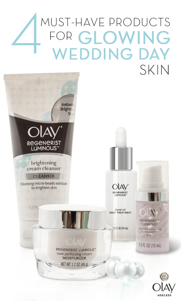 Wake Up To Radiance On Your Wedding Day With A Beautiful And Easy Skincare Routine First Use Olay Regenerist Luminous In 2020 Brightening Cream Olay Regenerist Beauty