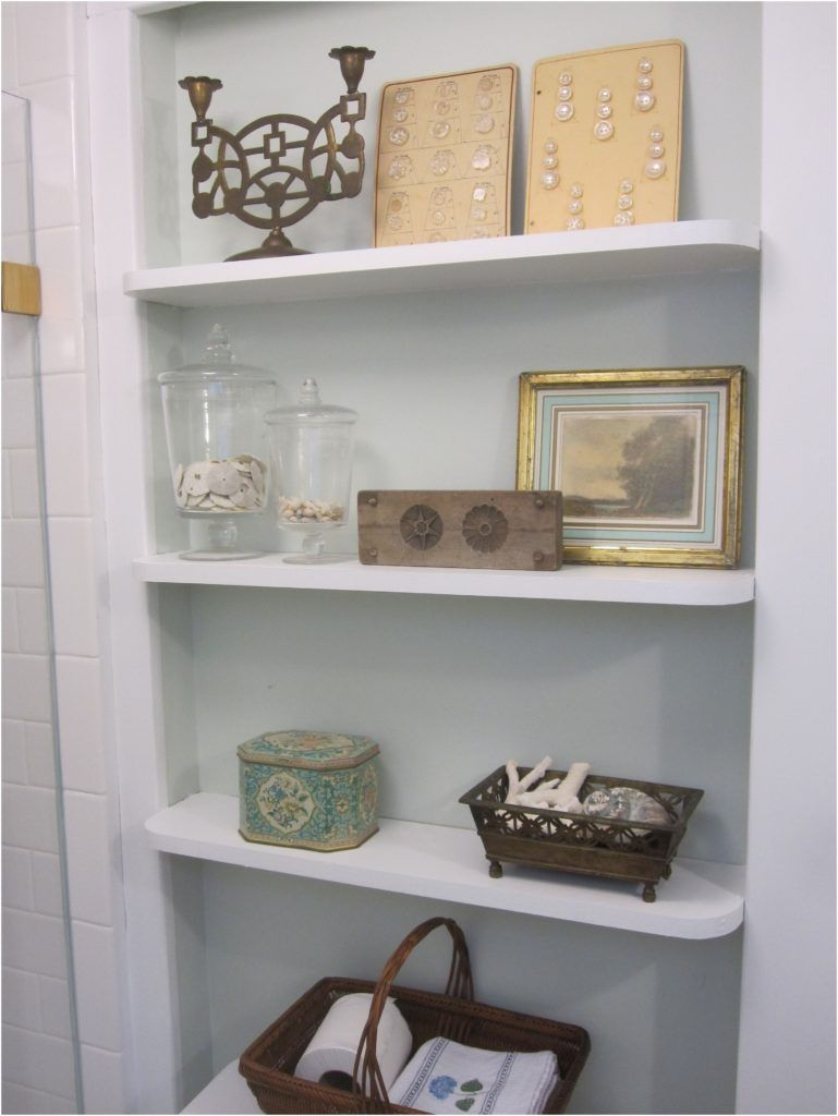 White Bathroom Shelf With Hooks | Bathroom Decor | Pinterest | White ...