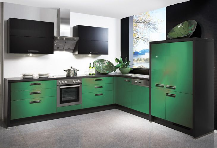 gr ne k che green kitchen colour combination ideas pinterest gr ne k che eckk che und gr n. Black Bedroom Furniture Sets. Home Design Ideas