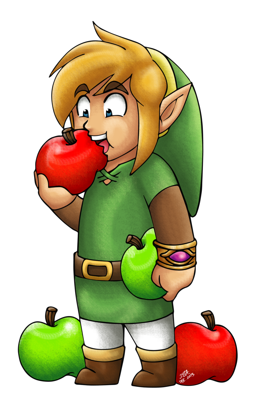 Link Eating Apples by IzIzIza.deviantart.com on @deviantART