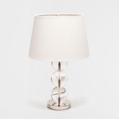 lampes chambre coucher lampe en verre