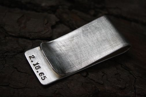 7683d5842607 Custom Made Sterling Silver Rustic Money Clip