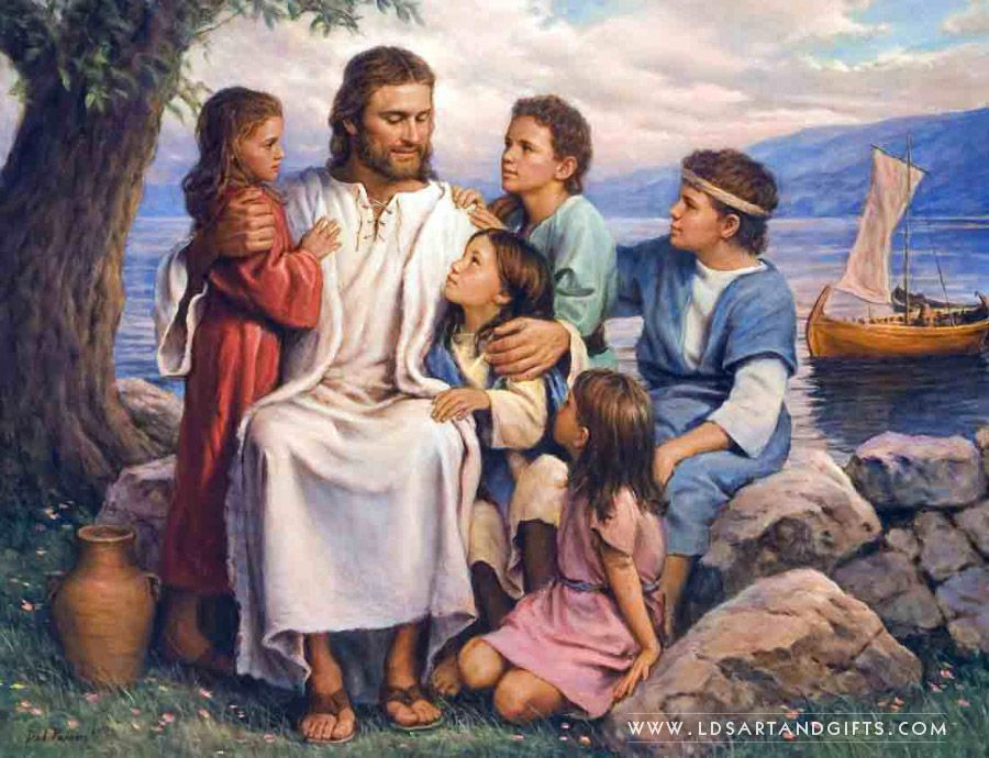 Suffer The Children Painting by Del Parson Lds art Pictures of christpictures