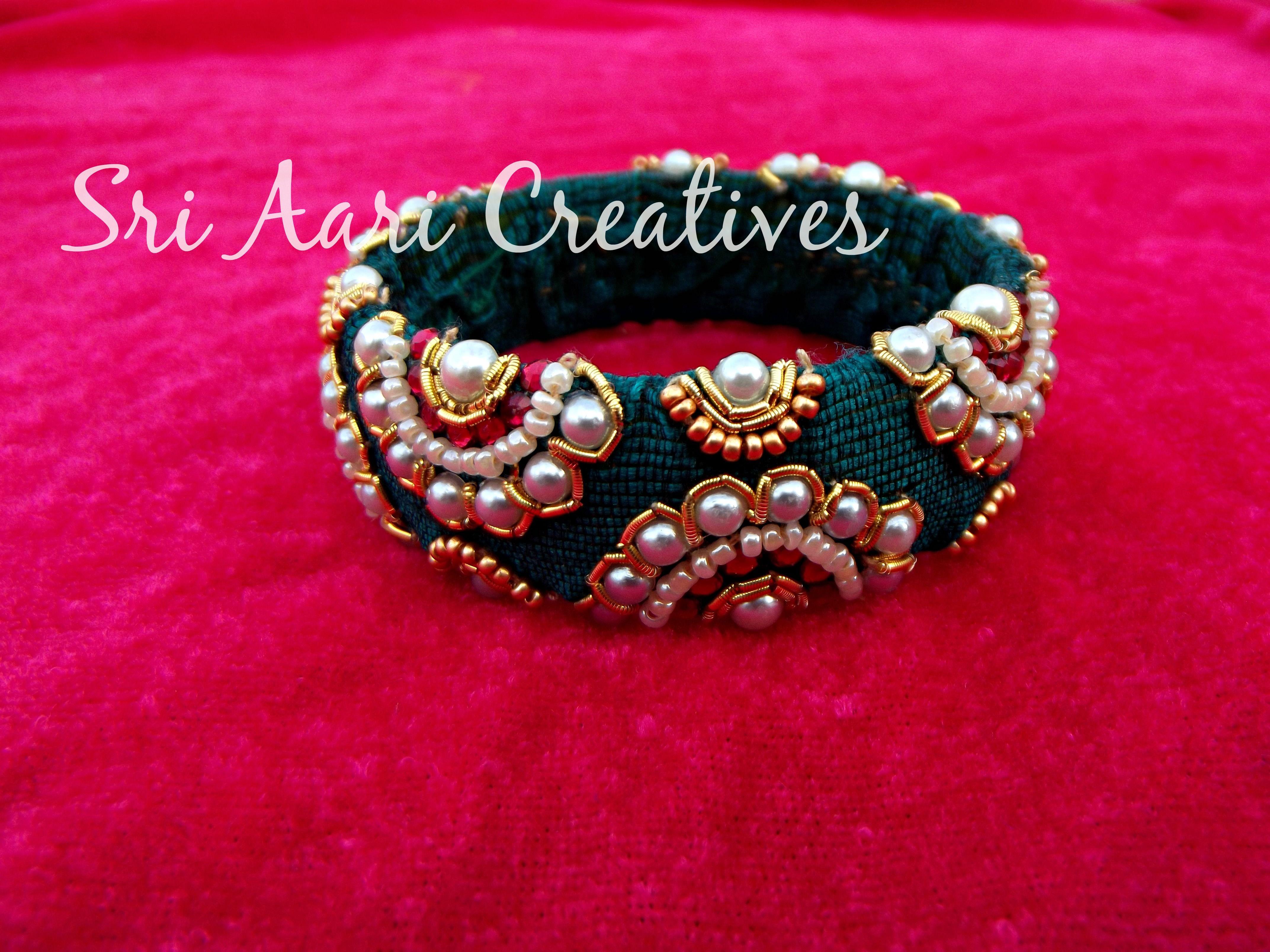 Pin by Shikhara K Reddy on Thread & Cloth Bangles | Pinterest ...