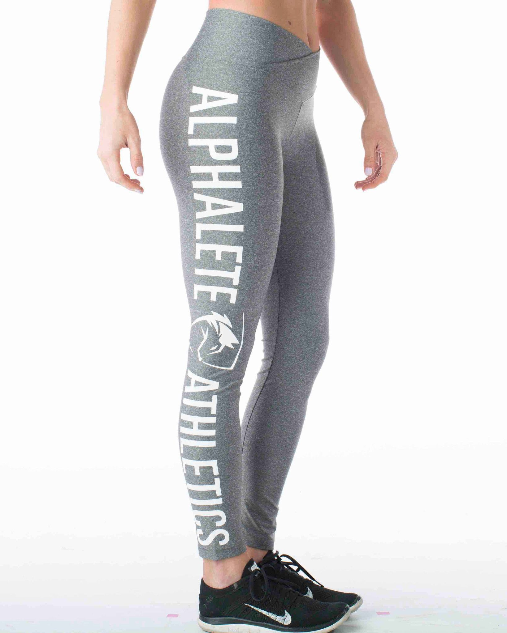 5c9ed77ed8730 Women s V-Cut Leggings - Gray  Heathered from Alphalete Athletics ...