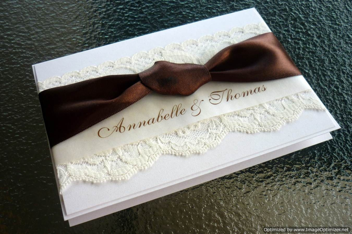 Vintage Lace Chocolate Brown Wedding Invitations And Rsvp Cards Deposit: Chocolate Ivory Wedding Invitation At Reisefeber.org