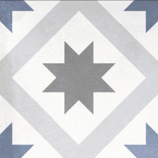 Carrelage Interieur Gatsby Artens En Gres Gris Blanc Et Bleu 20 X 20 Cm Carrelage Interieur Murs Gris Bleu Carreaux Ciment
