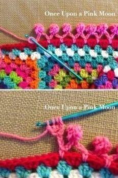 Learn Crocheting Pom Pom Edging | CrochetBeja
