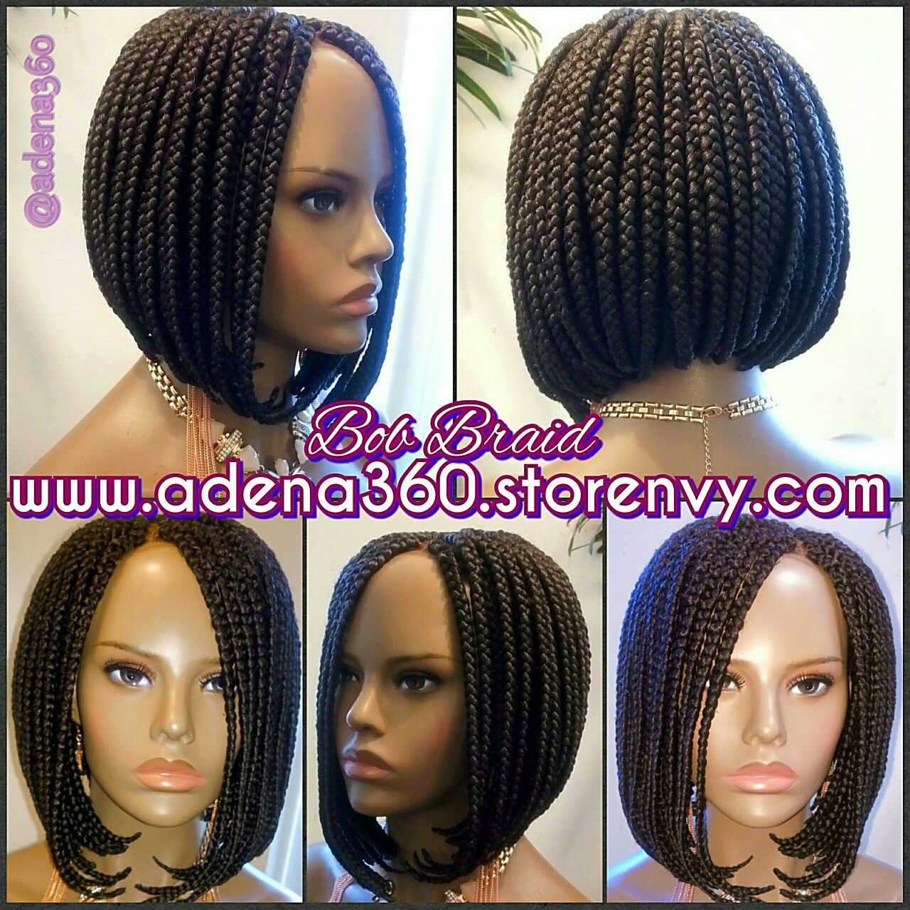 Take The Stress Off Your Hair And Order A Hand Made Medium Sized Bob Braid Wig Here Www Adena360 Nvy