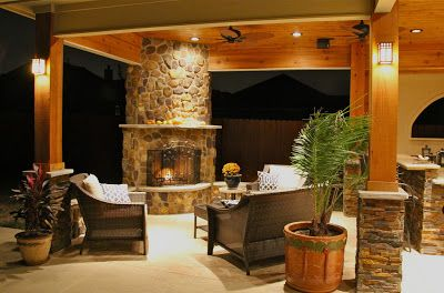 Backyard With Outdoor Kitchen And Fireplace Rustic Outdoor Kitchens Outdoor Kitchen Design Fireplace Design