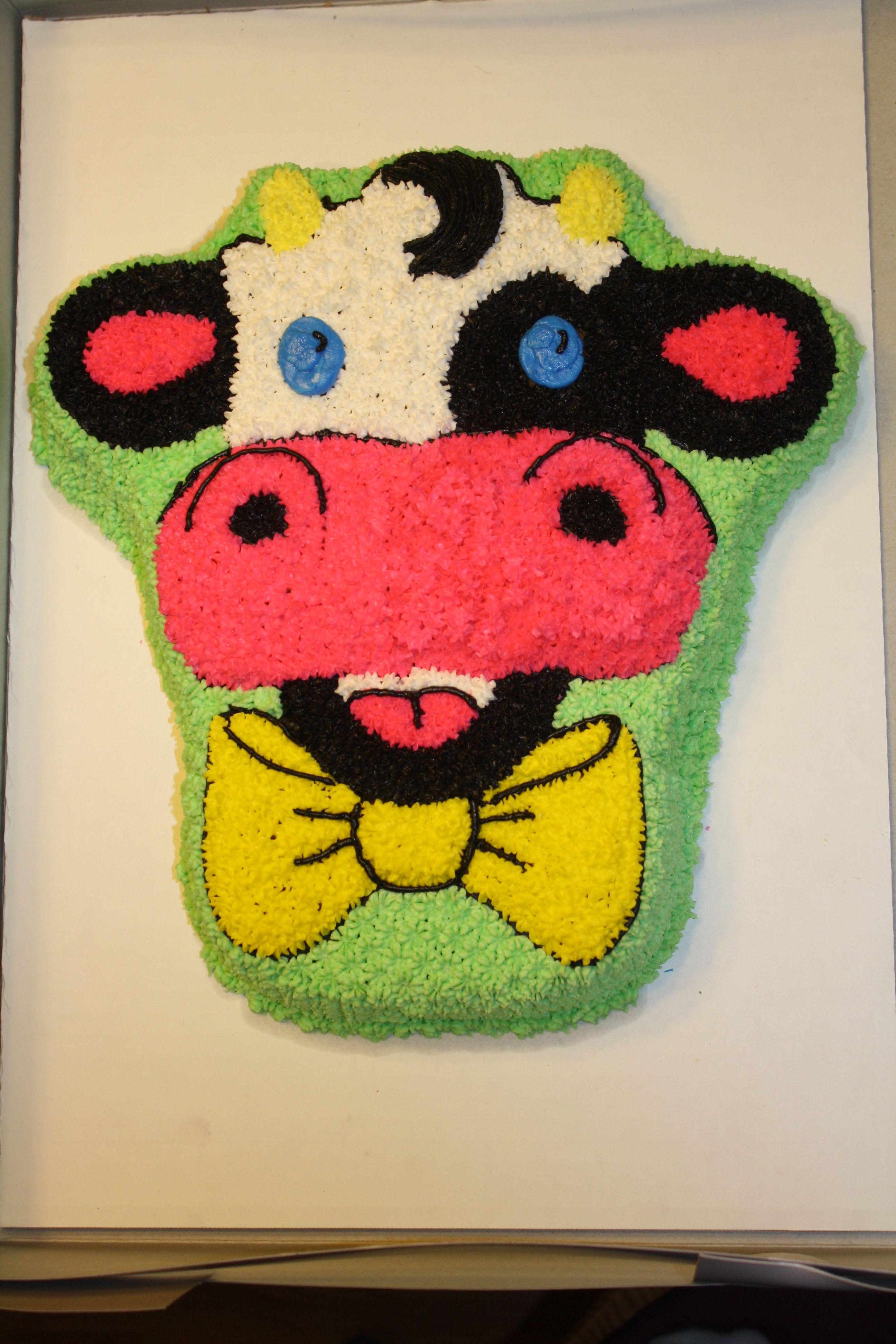 Cow Birthday Cake Cakes Pinterest Cow Birthday Cake Cow