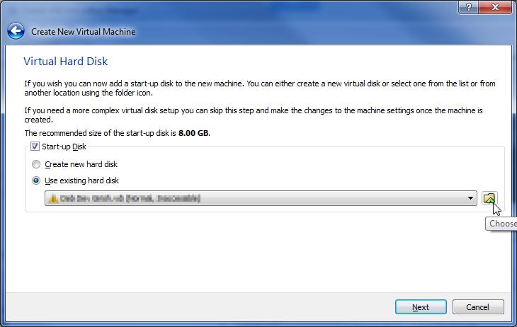 04 VirtualBox - Select Virtual Hard Disk | Vmdk file in