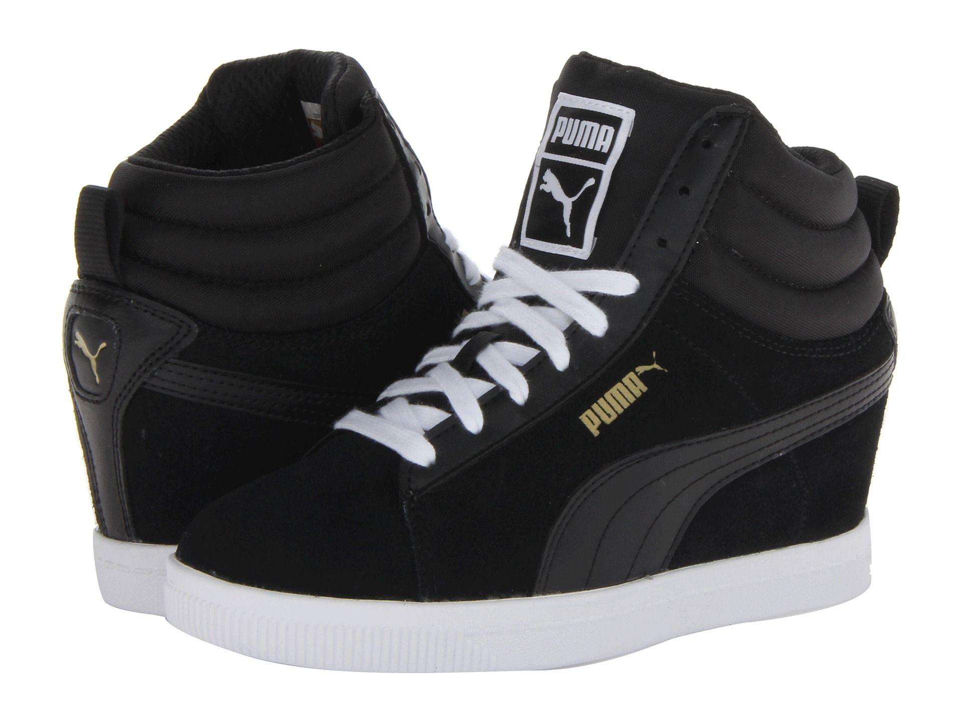 287f855987ca I m kinda over sneaker wedges too but I haven t had a pair yet! Lol. ~ PUMA  Puma Classic Wedge Black