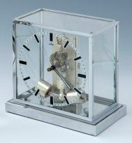 Glass Art Deco clock by ATO. at 1stdibs