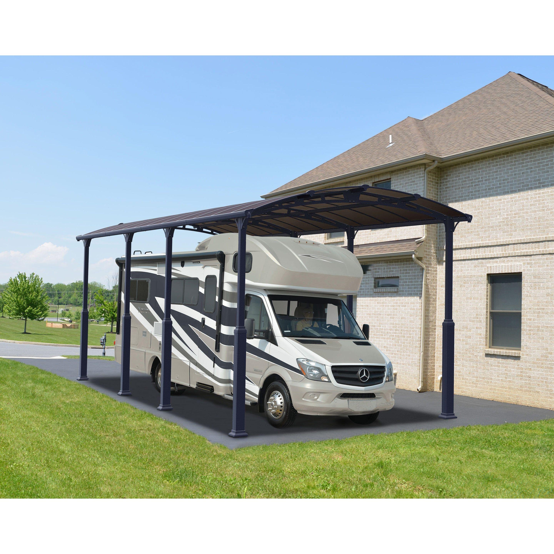 Carport Camping Car Alpine 8500 Palram Aluminium Et Polycarbonate 29 5m2 En 2020 Ports De Voiture Camping Car Et Polycarbonate