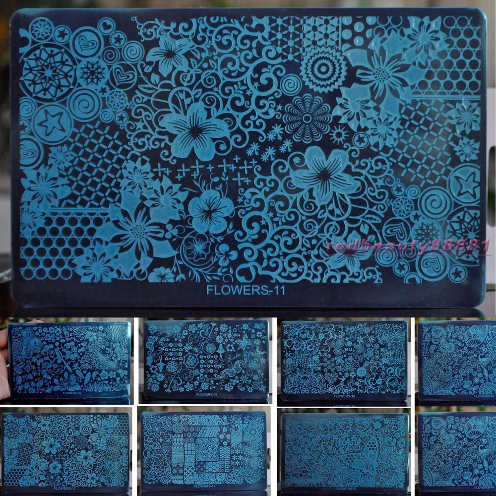 swirl lace nail decor design nail art stamping plate flower lace