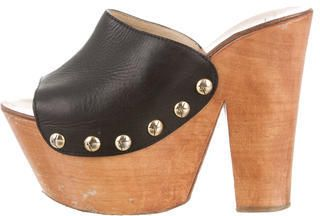 2f3c85799b9ca Giuseppe Zanotti Leather Platform Clogs Giuseppe Zanotti Heels, Clogs,  Heeled Mules
