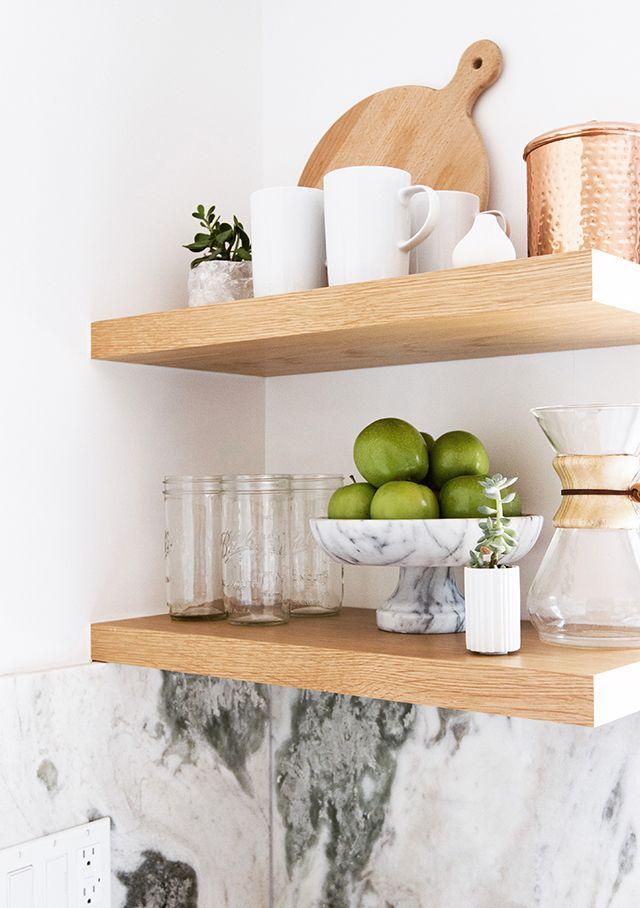 Trullbrook Residence Kitchen 90 Reveal Dining Room Shelves Kitchen Decor Floating Shelf Decor