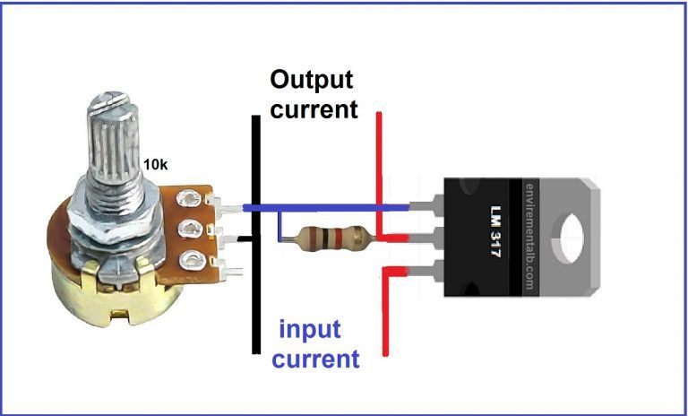 Variable Voltage Power Supply Using The Lm317t Voltage Regulator Electronic Circuit Projects Electronics Mini Projects