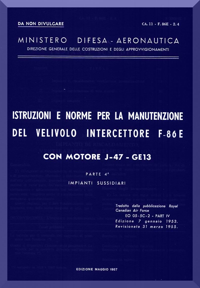 fiat naa f 86 e aircraft maintenance manual subsystems rh pinterest com Aviation Maintenance Logos Military Aviation Maintenance Log Books