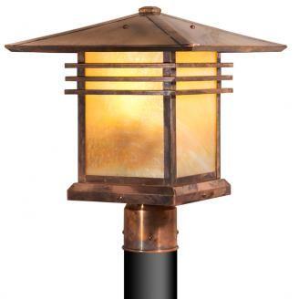 Old Penny Finish With Honey Glass Craftsman Lighting Cottage Lighting Lamp Post Lights