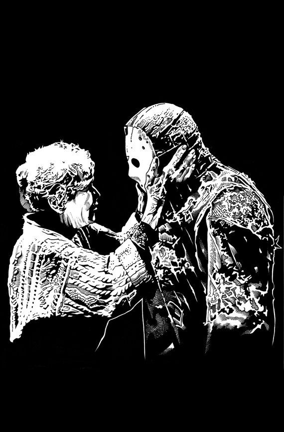 family jason and pamela voorhees poster friday the 13th