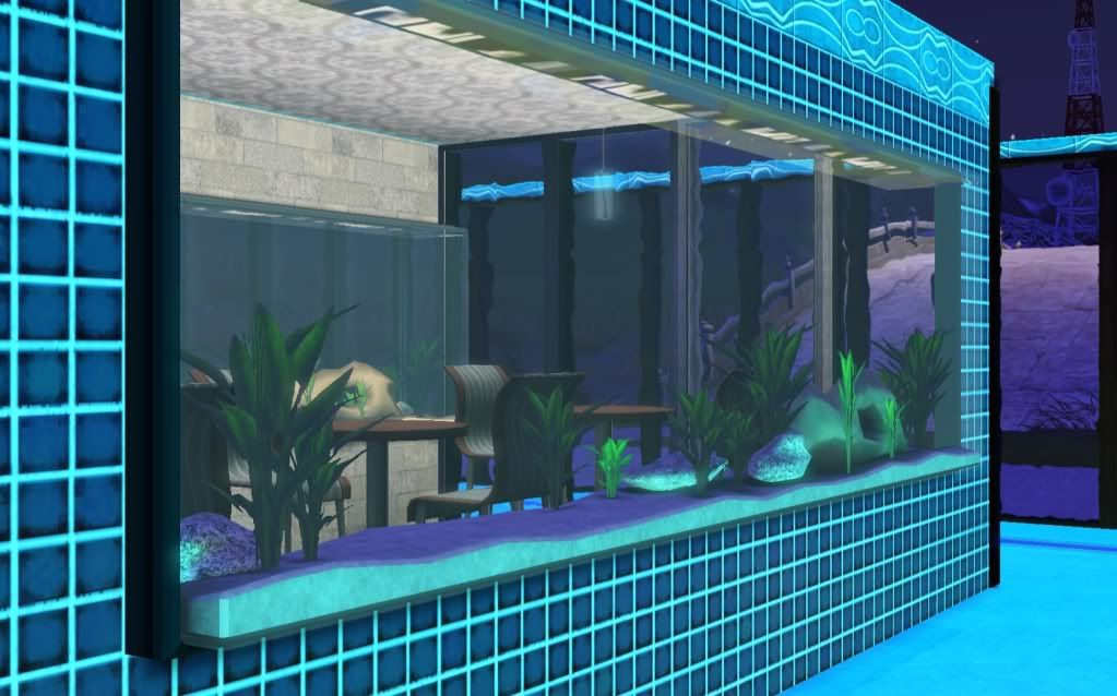 Fish tank pool sim sational pinterest sims for Pool design sims 3