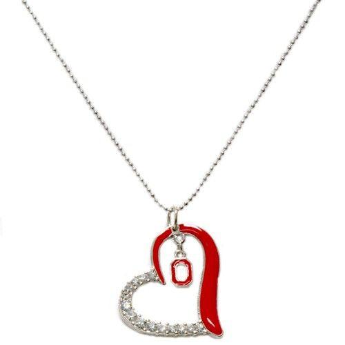 Ohio state buckeyes heart pendant necklace redsilver ohio state ohio state buckeyes heart pendant necklace redsilver ohio state buckeyes collegiate aloadofball Gallery