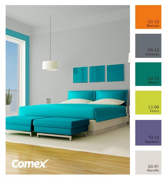 Nuestro Cliente Comex Da Esta Recomendacion Comex Una Habitacion Asi Para Tu Casa Colores De Interiores Decoracion De Interiores Colores De Casas Interiores