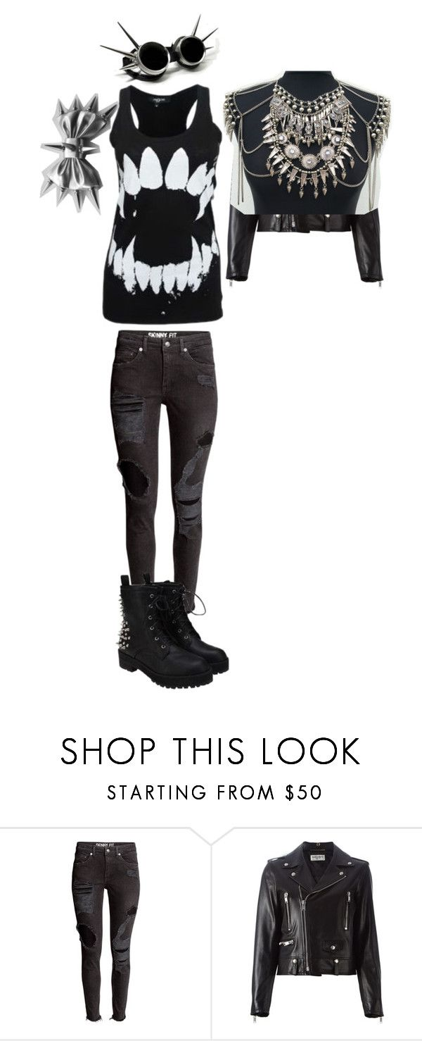 """""""Spiked Beauty"""" by hannahlucielleebert on Polyvore featuring Jeffrey Campbell, Yves Saint Laurent and Bohemian Vixen"""