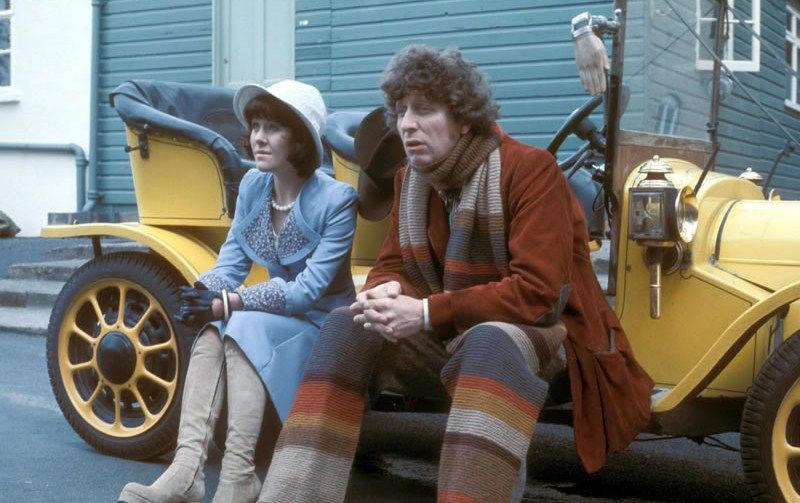 Image result for Doctor Who tom baker and sarah jane